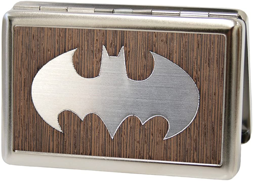 Buckle-Down Metal Wallet - Batman Marquetry Black Walnut/metal Accessory