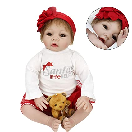 Amazon Com Realistic Reborn Baby Dolls 55cm Doll Kids Girl Playmate