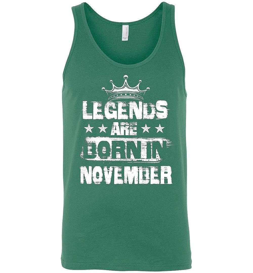 TEEPAAA Legends Are Born in November Birthday Month Unisex Tank