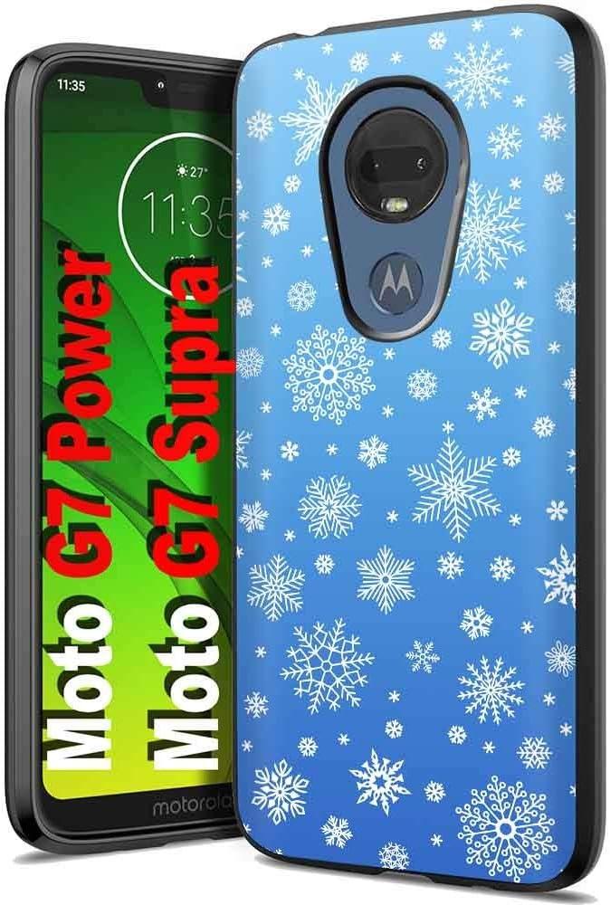 Thin Gel Phone Case for Motorola moto g7 power,Reindeer Print