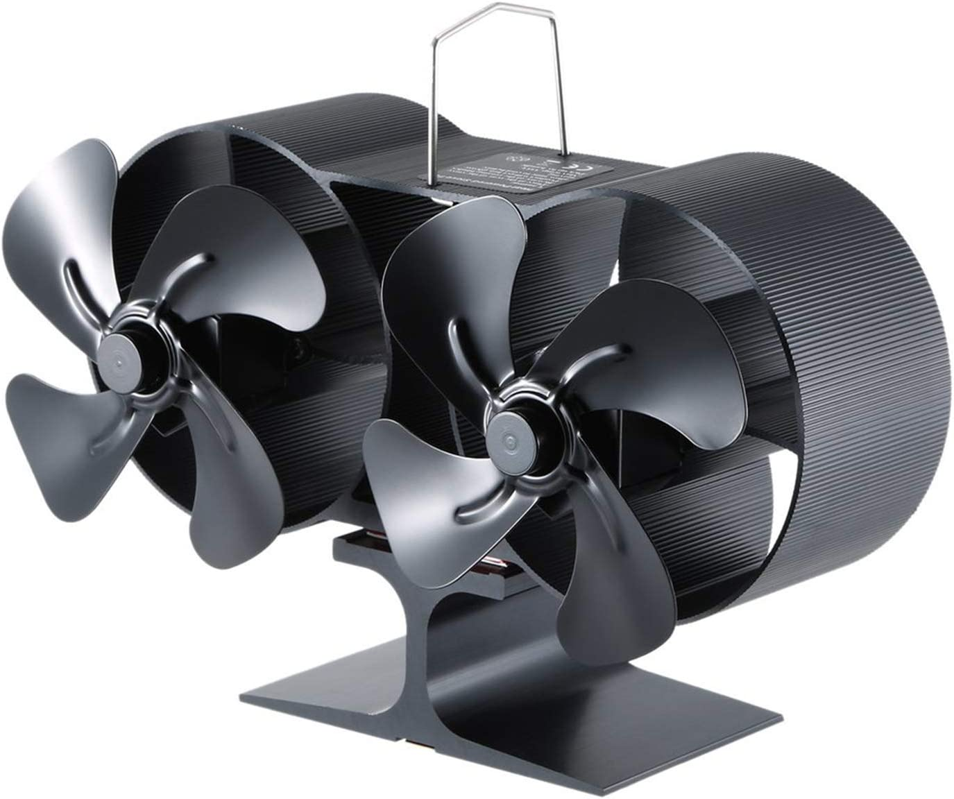 New Mini 8 Blades Fan Heat Powered Stove Fan With Warm Winter New Double-Headed