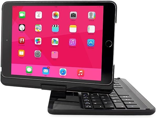Snugg Funda Teclado iPad Mini 1/2/3, amp; # 8482; – Carcasa Negra con Teclado AZERTY, rotación 360 °, conexión Bluetooth & garantía a Vida para Apple ...
