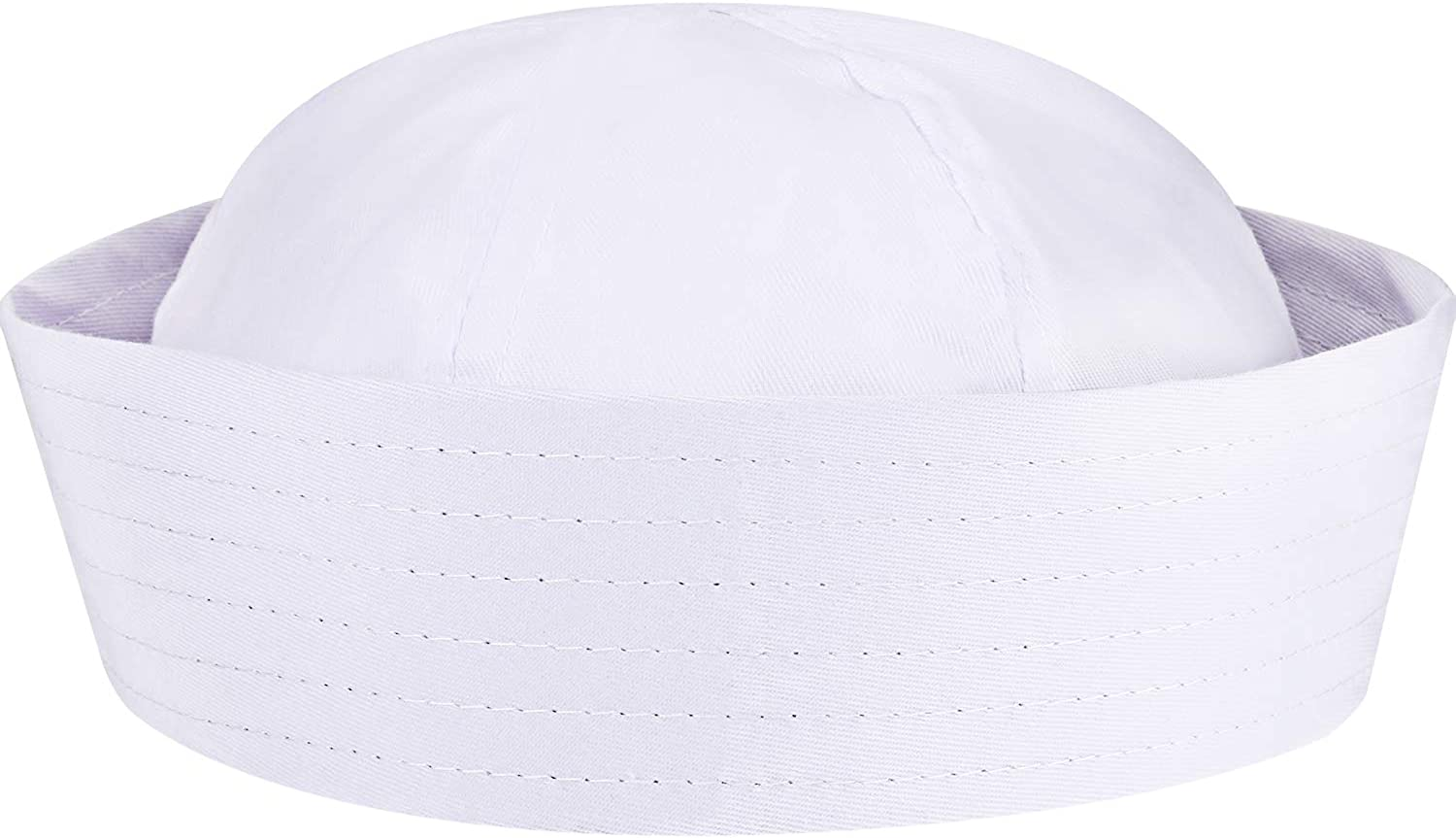 SATINIOR White Sailor Hats Navy Captain Hats Yacht Hat for Teens and Adults Costume