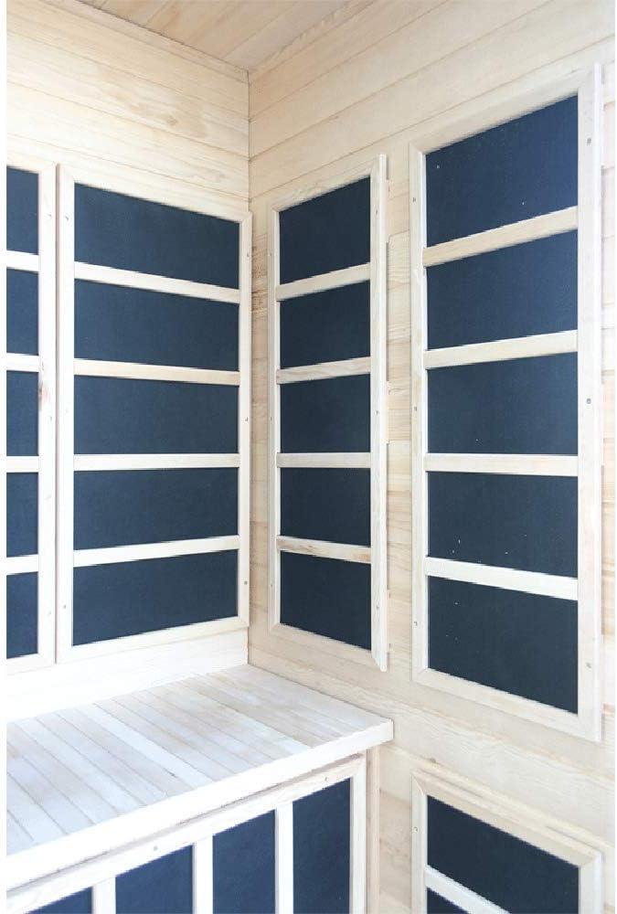 One Person Infrared Sauna with Carbon Heaters DIY Assembly Home Sauna Indoor Sauna Left Hand Door