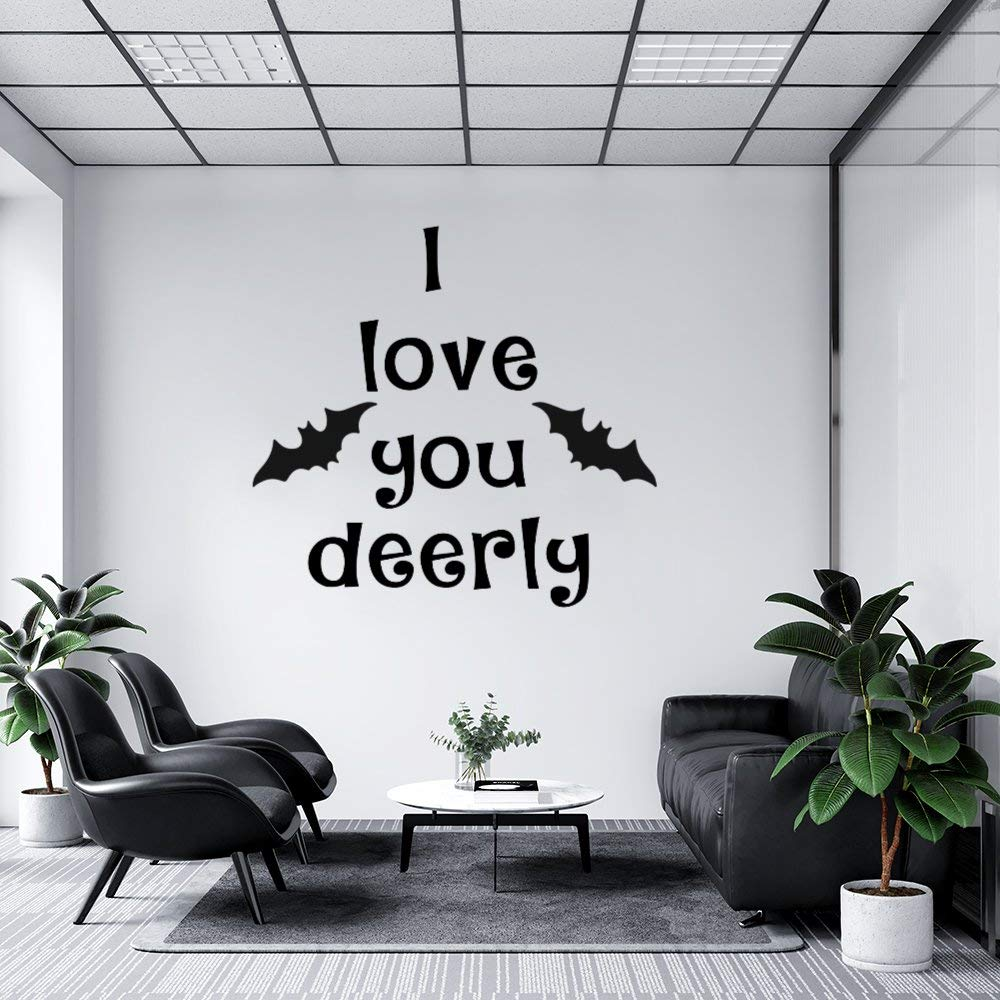 Stickers for Window and Wall Decor, I Love You Deerly Festival Decal Stickers for Thanks Giving, Halloween and Christmas, 30 x 26 Inch