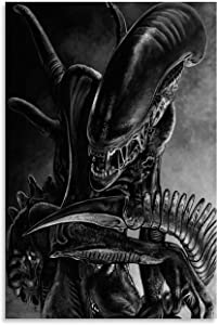 kawaiiStore Alien Xenomorph Canvas Art Poster and Wall Art Picture Print Modern Family Bedroom Decor Posters 12×18inch(30×45cm)