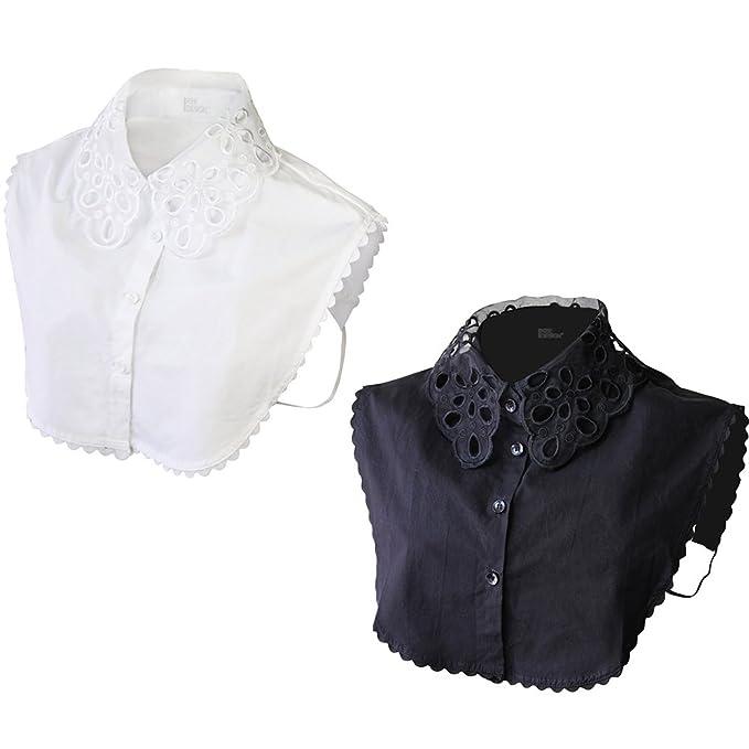 007ee83ef90 Ikee Design 2pcs Set Women s Detatchable False Shirt Lace Collar ...