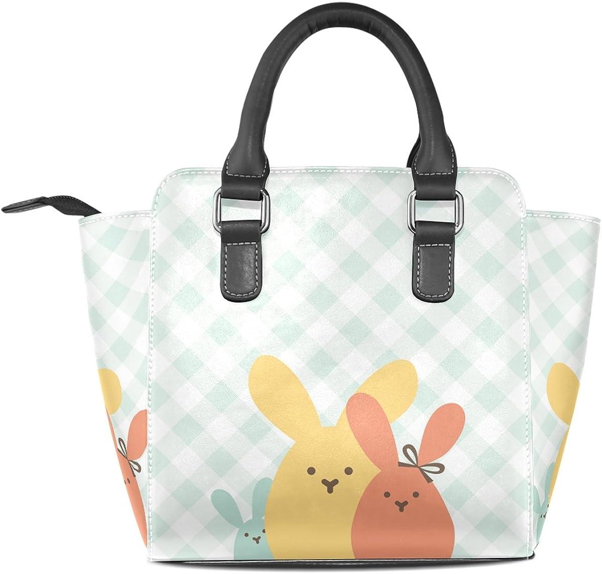 Cute Cartoon Rabbit Leather Handbags Purses Shoulder Tote Satchel Bags Womens