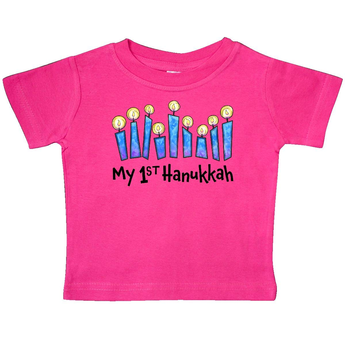 inktastic My First Hanukkah with Lit Candles Baby T-Shirt
