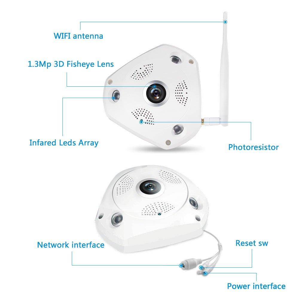 Amazon.com: korang 960P Cámara IP inalámbrica sistema H.264 ...