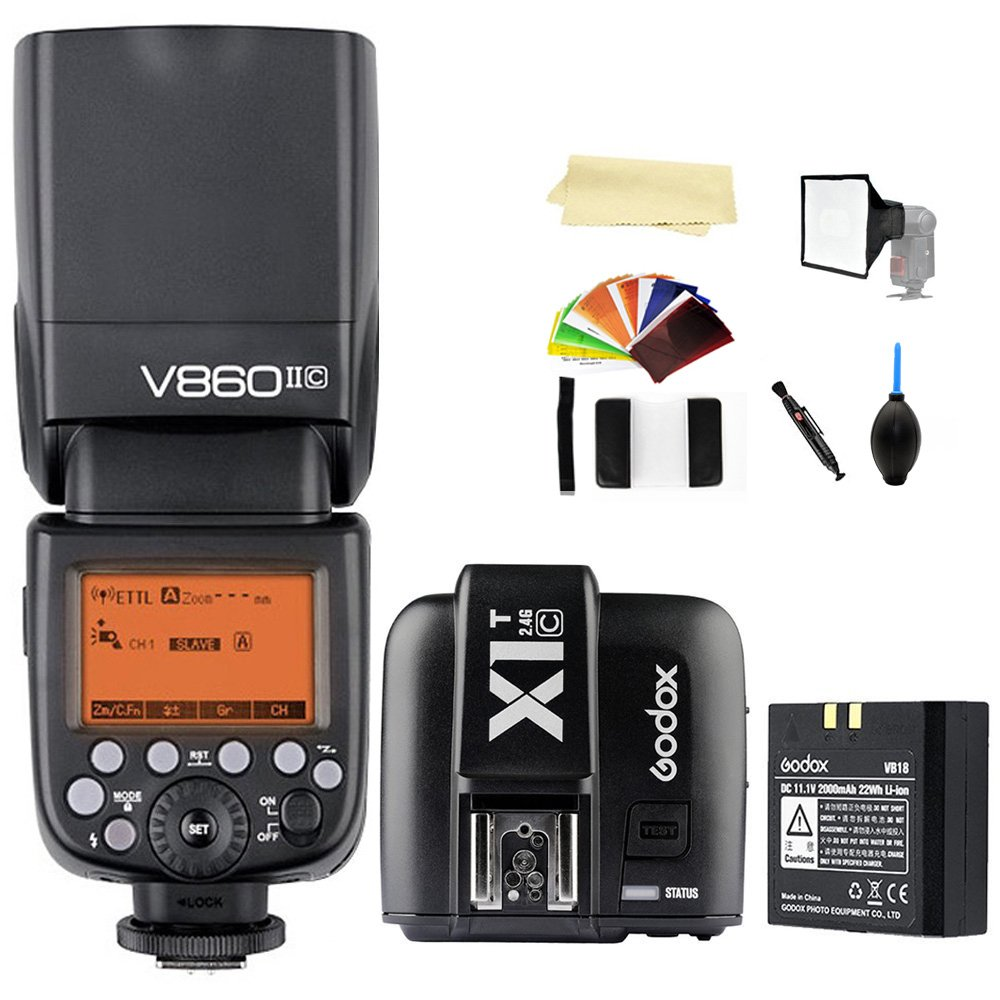 Godox AD200 200Ws TTL GN60 HSS Flash Built-in 2.4G Wireless X System TTL HSS 1//8000s and X1T-S Transmitter Compatible for Sony