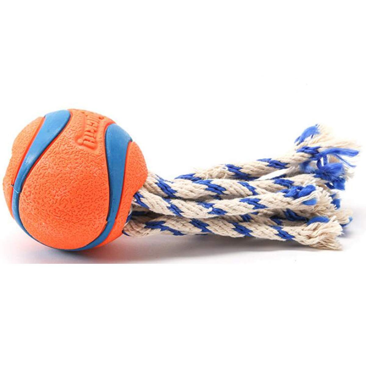orange Xingganglengyin Pet Toys, pet Molar Toys, Ball Molar Toys, Medium Rope Knot Rubber Bouncy Balls, Natural Rubber, Puppies, Large Dog Molar Toys (color   orange)