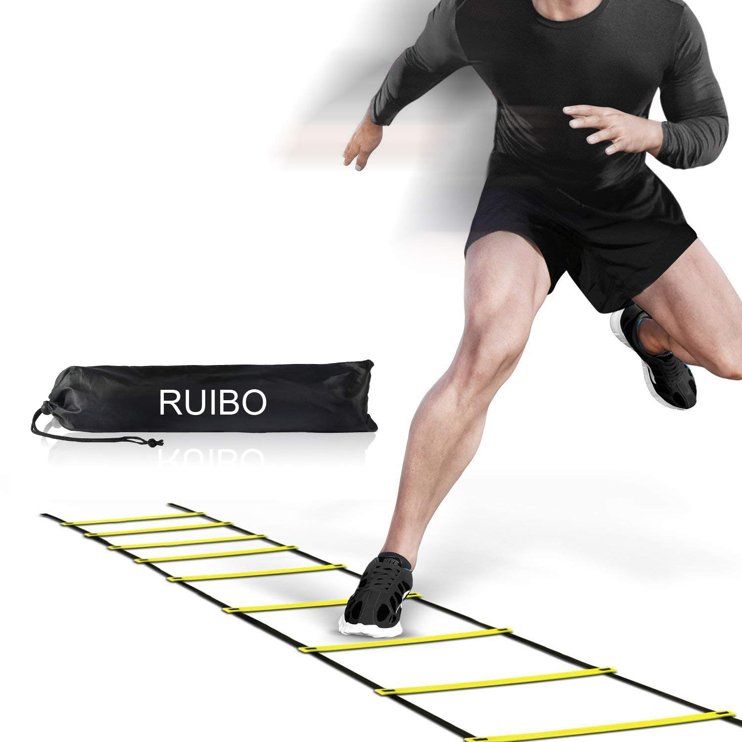 Agility Ladder Speed Training Equipment/Speed Ladders for Football, Soccer & Other Sports - 20 Feet Length 12 Adjustable Rungs