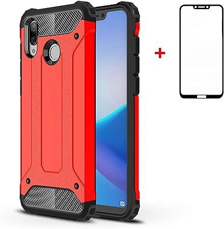 GoodcAcy Compatible para Huawei Honor Play Funda,[Armadura Delgada,Doble Capa] Híbrida de TPU Extraíble 2 en 1 a Prueba de Golpes Robusto y Durable Fashion Ultra-Thin,Rojo: Amazon.es: Hogar