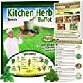 Kitchen Herb Seeds Buffet - Culinary Herbs for Home Grown Goodness. Basil, Chives, Dill, Cilantro, Oregano, Fennel, Marjoram, Rosemary, Thyme, Sage, Parsley and Much More!