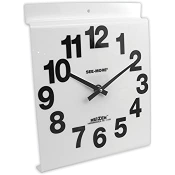 Amazon Com Giant View Low Vision Wall Clock White Face
