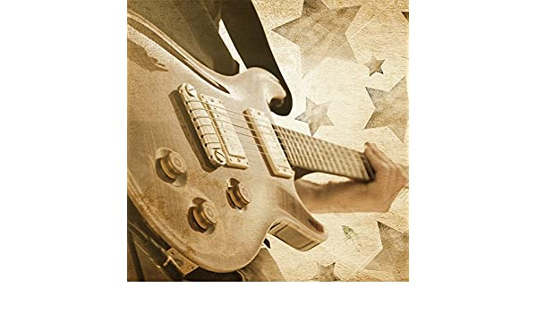 JP Londres sqcnv2103 lienzo Country grano guitarra de Rock N Roll ...