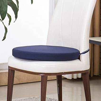 Sigmat Indoor/Outdoor Seat Cushions Waterproof Round Bar Stool Cushion  Solid Chair Pad Navy 16