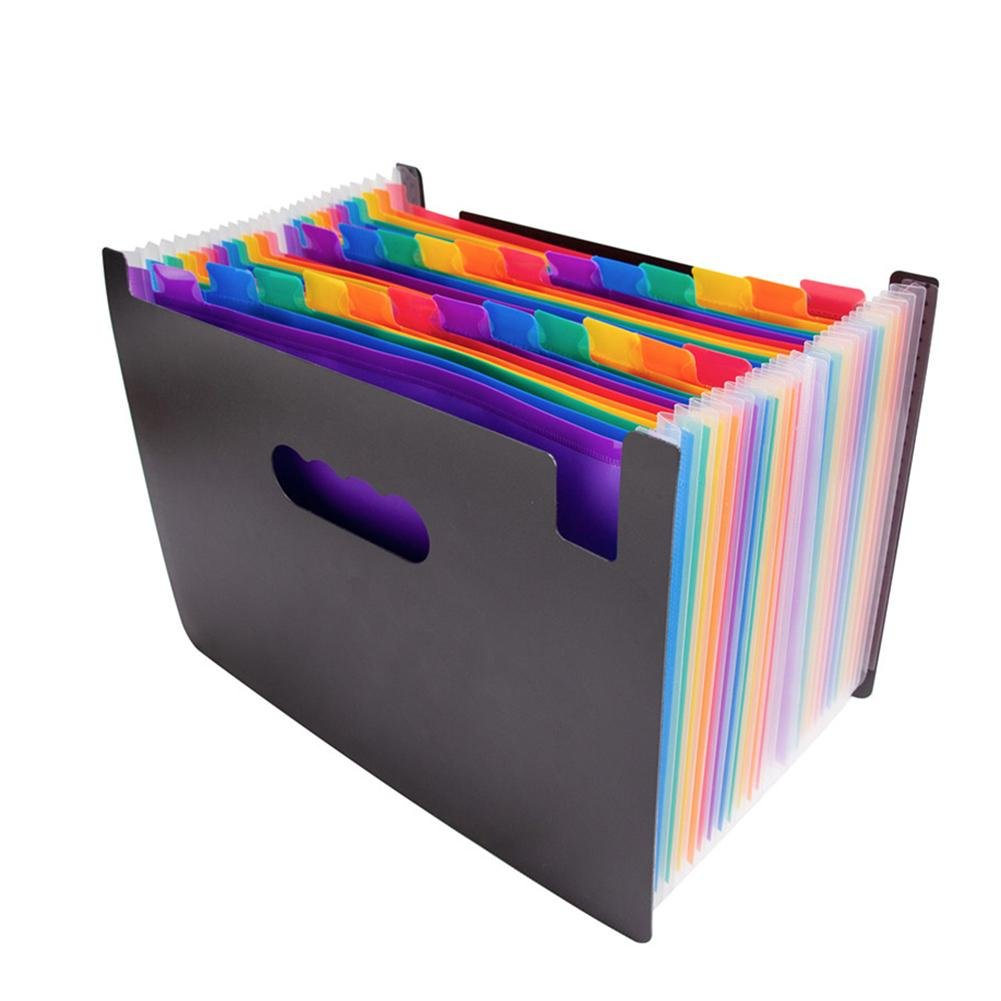 WinnerEco Rainbow Organ Bag 24-Layer Organ Package A4 Classification Test Papers Tool