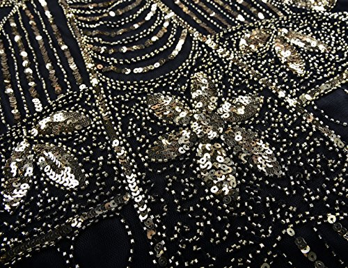 Flecos Mujeres Lentejuela Con Dorado Coctel Deco Gatsby Prettyguide Arte Flapper 20 Vestido os A A4Wq0qF