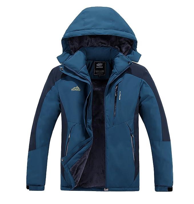 553f1efa3ada6 Abangoo Men's Outdoor Fleece Ski Jacket Windproof Waterproof Softshell  Hooded Rain Snow Jacket Hiking Coat