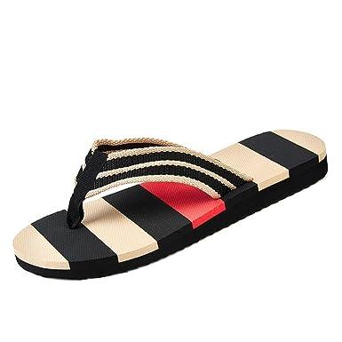bc053d19c1e7de Amazon.com  Men Fashion Summer Beach Stripe Flip Flops Shoes EVA ...