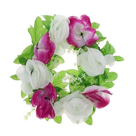 Amazon.com: KODORIA Flor Corona Artificial Flores Ramo para ...