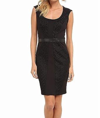 Nicole Miller Womens Open Tech Weave Dress Black Dress At Amazon