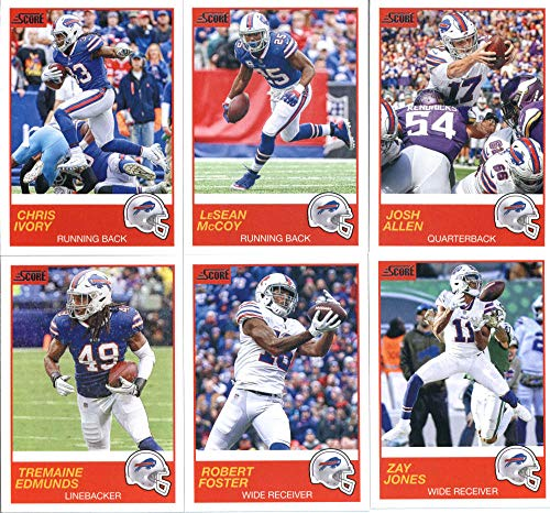 2019 Panini Score Football Veteran Buffalo Bills Team Set of 10 Cards: Josh Allen(#122), LeSean McCoy(#123), Chris Ivory(#124), Zay Jones(#125), Robert Foster(#126), Tremaine Edmunds(#127), Lorenzo Alexander(#128), Matt Milano(#129), Tre'Davious White(#130), - 127 Matt