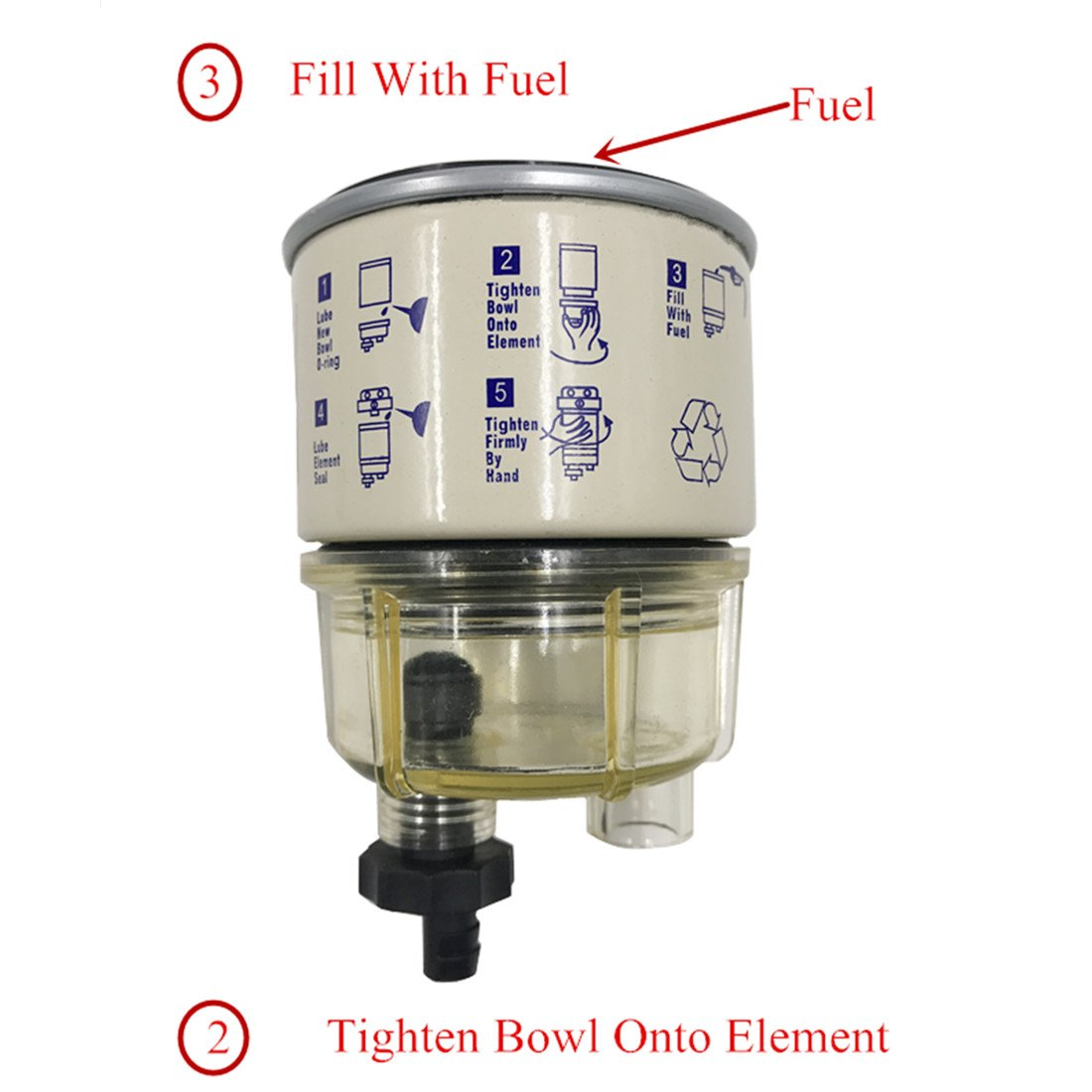 Ifjf R12t Fuel Filter Water Separator 120at Npt Zg1 4 19 Automotive Engine Parts With Fitting Complete Combo Diesel