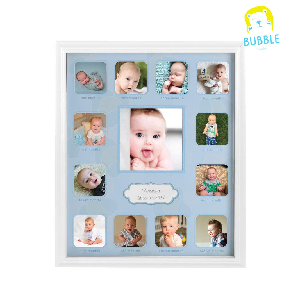 Amazoncom Collage Photo Frame For Baby First Year Keepsake 12