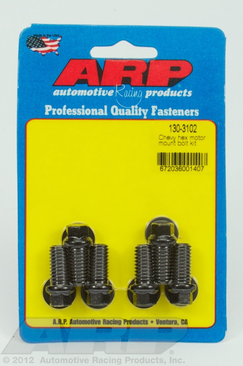 ARP 130-3102 Chevy hex motor mount bolt kit