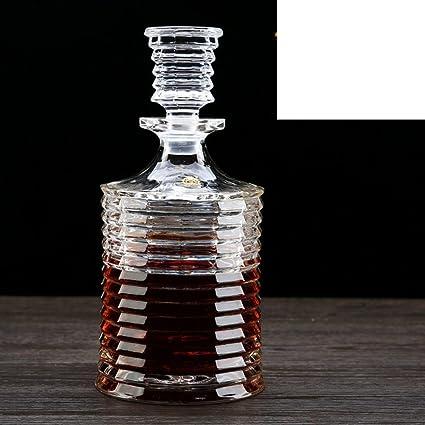 Jarra de agua, vidrios de cristal libres de los plomos,botella de vino tallada