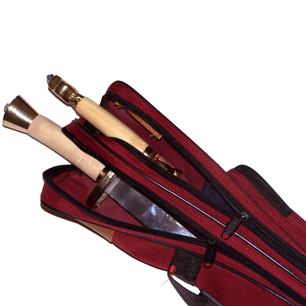ChengYi 43'' x 4.3'' Katana Samurai Sword Storage Case Bag with Adjustable Should Strap, Sword Carrying Case CYBG01 (red) by ChengYi