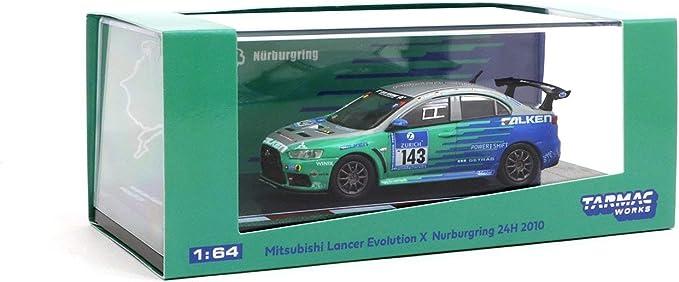 Tarmac Works Mitsubishi Lancer Evolution X Nurburgring #143 1:64 T64-004-NUR
