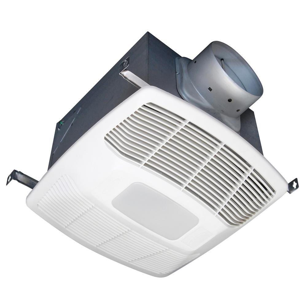 Air King White 150 CFM Single Speed Humidity Sensing 0.6 Sone Ceiling Exhaust Bath Fan with LED Light ENERGY STAR