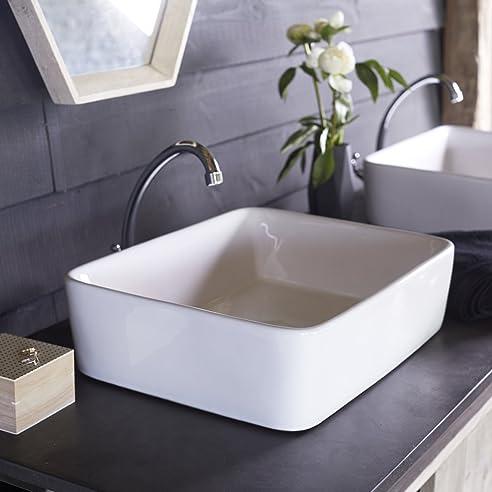 Waschbecken Aus Keramik Aufsatzwaschbecken Badezimmer Waschtisch