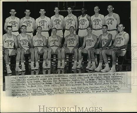 1963 Press Photo University of Wisconsin-Madison Badger Equipo de ...