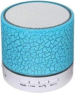 Grewtech GRS01 Mini Bluetooth Speaker Portable Wireless Speaker with FM Radio + Handsfree Speakerphone + Micro SD TF Card + Light (Blue)