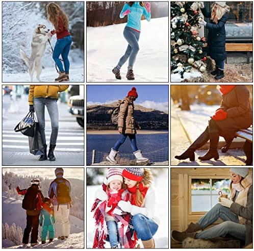 Heatuff Women's Christmas Socks Winter Wool Socks Warm Soft Pattern Crew Socks Gift (5 Pairs)
