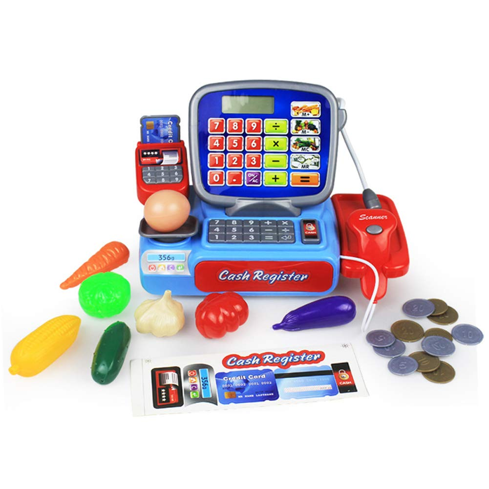 UPMALL Simulation Supermarket Cash Register Toy Set Early Education Puzzle Game for Kids