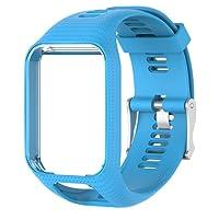 Colinsa - Cinturino di per orologio, per TomTom Runner, 2/3Series, in silicone - 11colori
