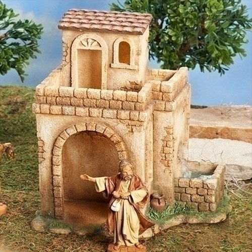 Fontanini Bethlehem Inn with Water Pump LED Nativity Village Figurine 55585 by Fontanini