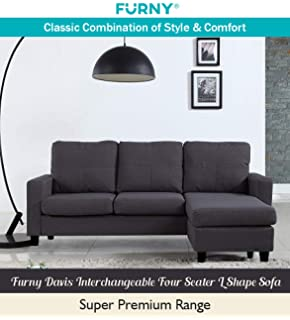 Astounding Bharat Lifestyle Lisbon Fabric 4 Seater Sofa Finish Color Gmtry Best Dining Table And Chair Ideas Images Gmtryco