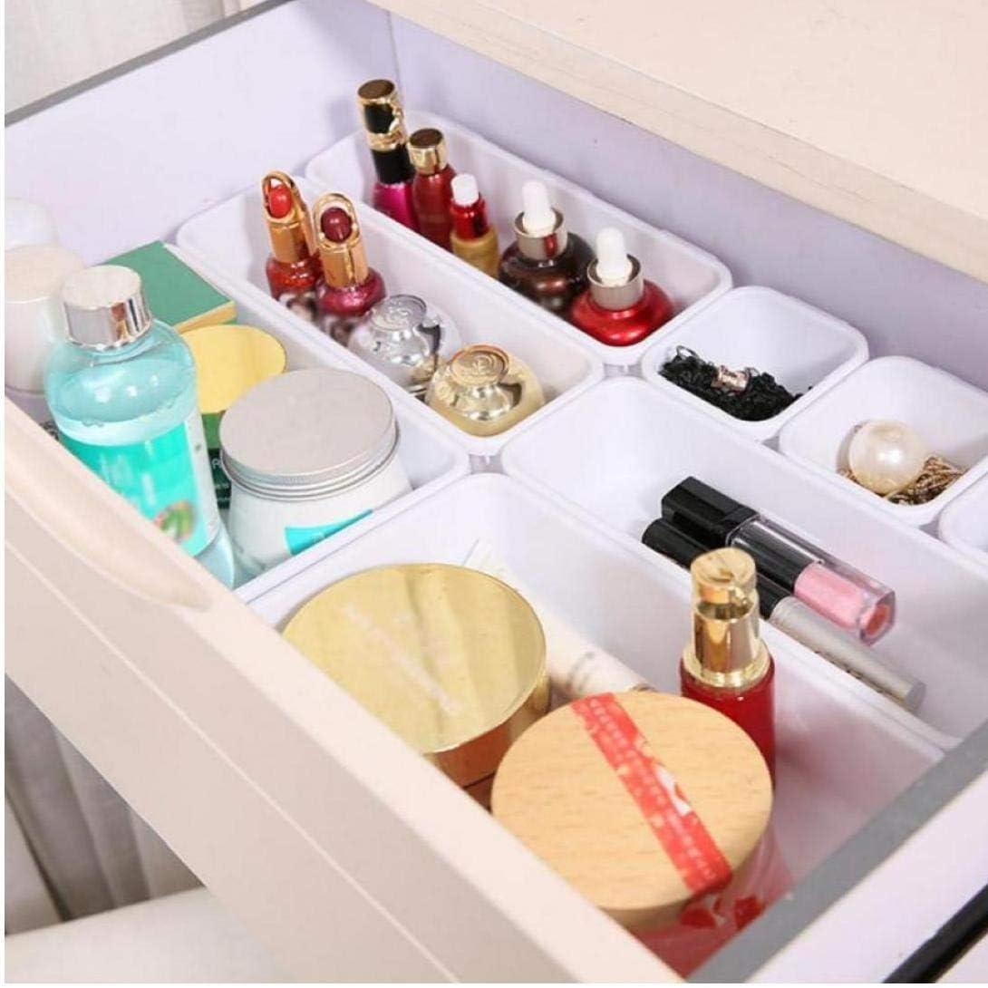 Ruluti Bureau Drawer Organizer Plateaux Salle De Bains 8pcs // Set Intercalaires Tiroirs en Plastique pour Le Maquillage Organisateurs Separators Cuisine Bureau Bureau