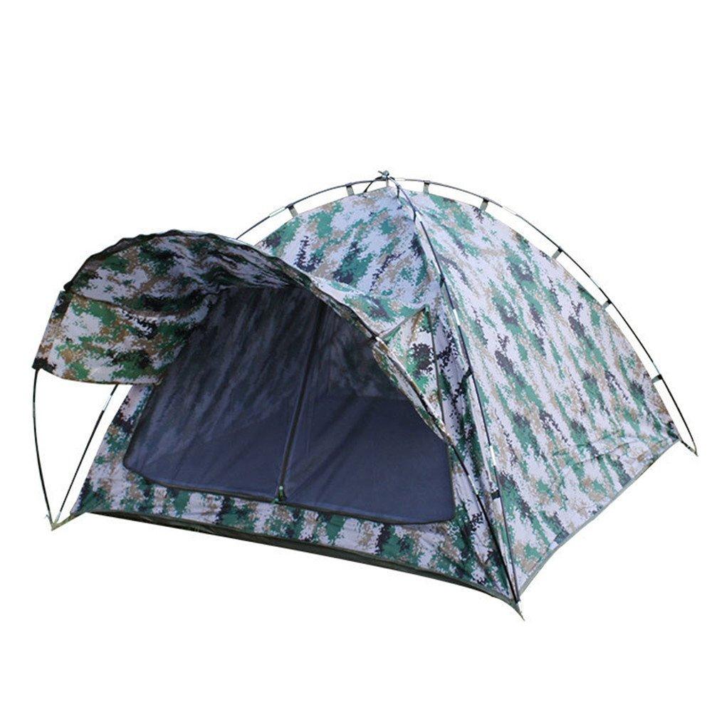 2人のキャンプテント屋外ダブルデッカーバックパッキングテントは、カモフラージュの屋外スポーツのための防水テントを組み立てる必要があります Beach tent B07JQCZXDV