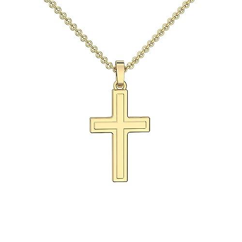 Baby Taufe Kinder Kommunion Zirkonia Kreuz Echt Gold 333 Mit
