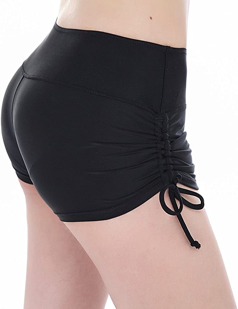 pjsonesie Womens Board Shorts High Waist Swim Shorts Beach Surf Swimwear Shorts