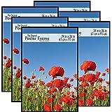 MCS 24x36 Inch Original Poster Frame 6-Pack, Black (65669)
