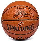 DIRK NOWITZKI Signed / Inscribed 'Swish 41' Spalding Basketball PANINI LE 41